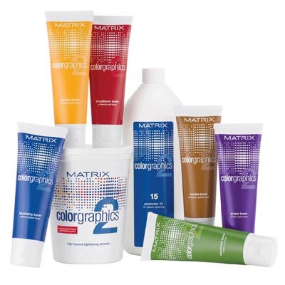 Matrix colorgraphics 2 hair product range
